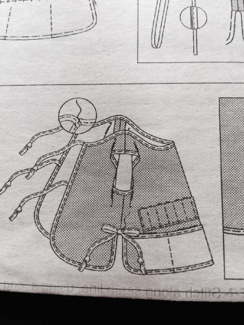 Instruction image of tie-back pieces