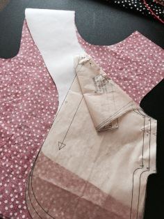 Check the new back pattern against the front fabric