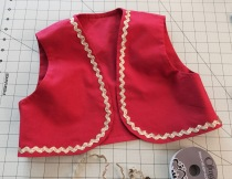 Sew on gold trim